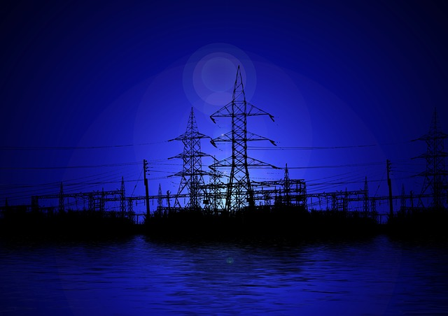 Power Poles, Electricity, Power Station, Substation