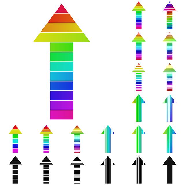Arrow, Arrow Logo, Growth, Success, Vector, Go