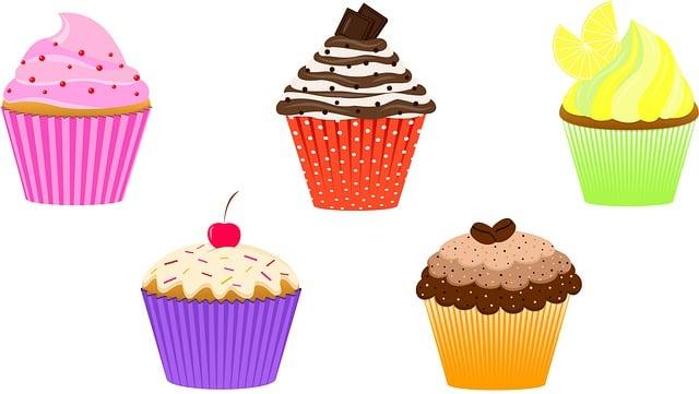 Muffin, Baking, Dessert, Sprinkles, Sugar, Bakery