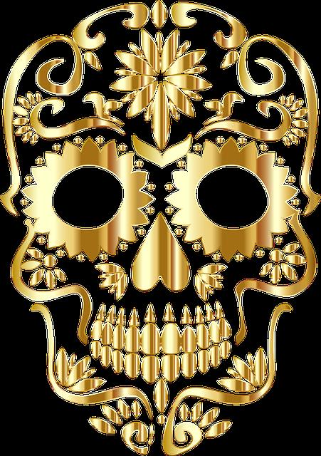 Sugar Skull, Bones, Calavera, Ornate, Decorative