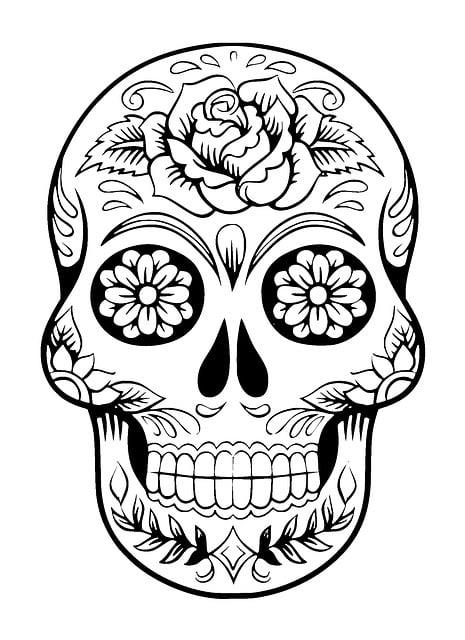 Skull, Sugar Skull, Tattoo, Skeleton, Design, Symbol