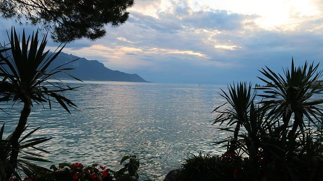 Lake Leman, Montreux, Suisse