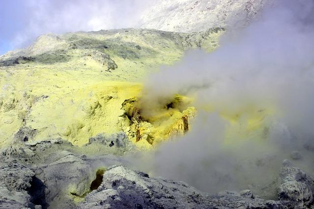 Sulfur, Steam, Volcanic, New Zealand, White Island
