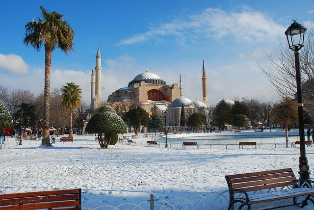 Hagia Sophia, Sultanahmet, Snow