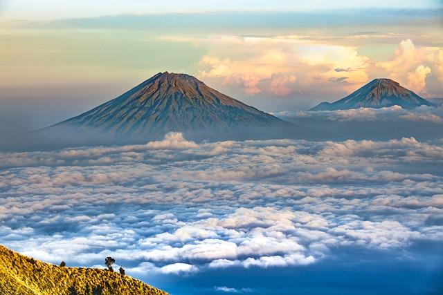 Landscape, Volcano, Central Java, Sumbing Mountain