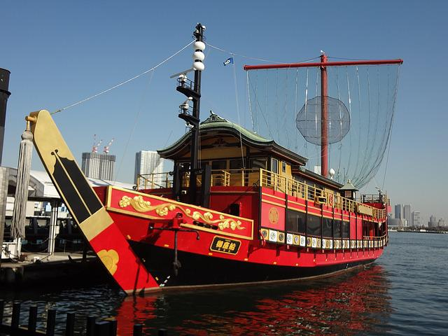 Tokyo, Sumida River, Water Bus, Dragon Horse Issue