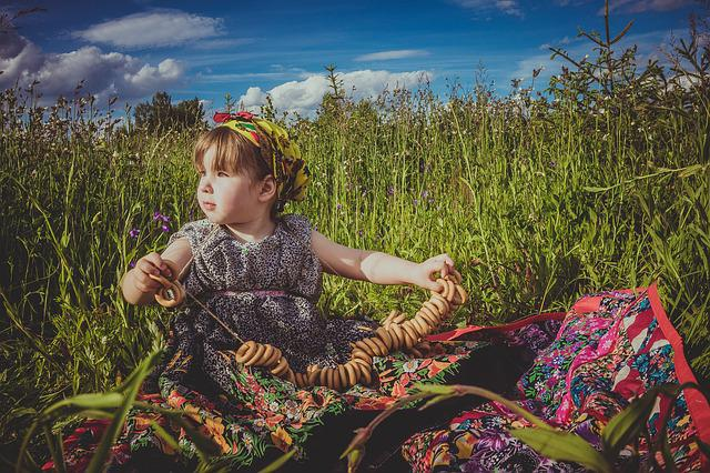 Summer, Field, Flowers, Baby, The Tradition Of Russian