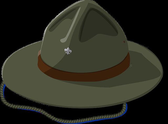 Hat, Scout, Usa, Uniform, Boy Scout, Summer, Camp