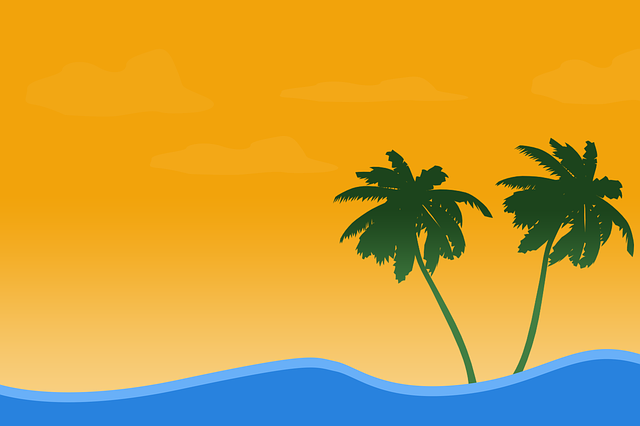 Summer, Beach, Coconut Trees, Palm