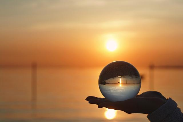 Sunset, Sun, Dawn, Dusk, Sky, Glass Ball, Summer, Hand