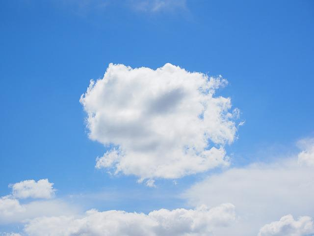 Clouds, Sky, Blue, White, Summer Day, Sunny Day, Sunny