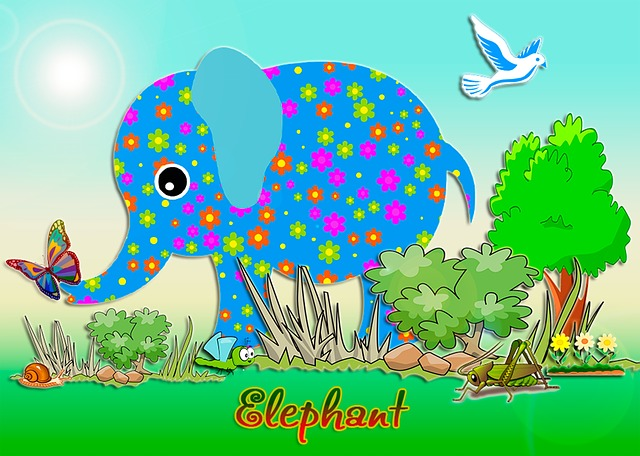 Elephant, Greeting, Nature, Pictures, Dove, Summer