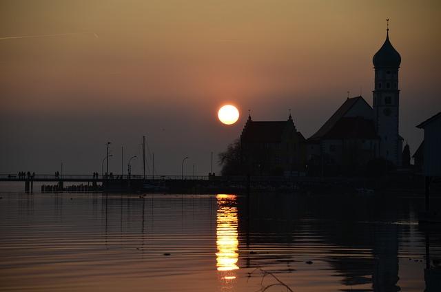 Lake Constance, Sun, Sunset, Evening, Summer