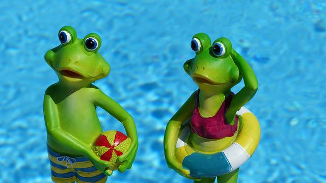 Frog, Summer, Water, Decorative Items, Holiday