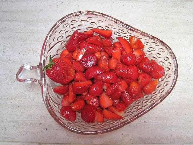 Strawberry Bowl, Summer Fruits, Red, Fruity