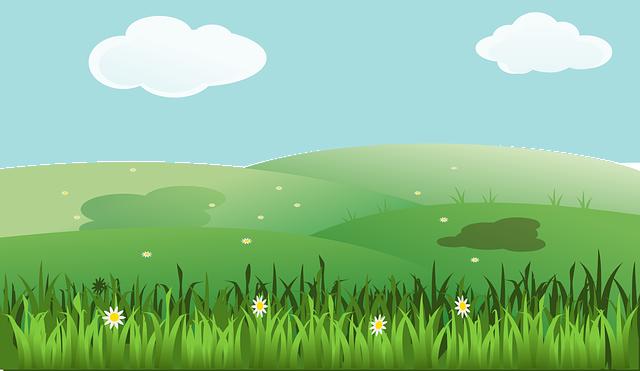Landscape, Spring, Summer, Fields, Clouds, Grass, Hill