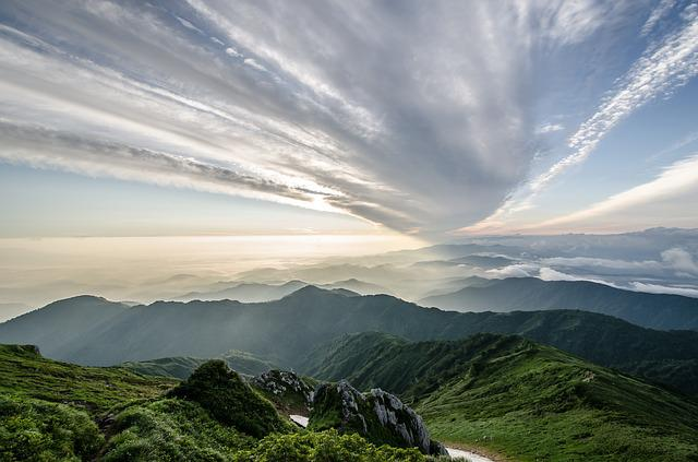 Fukushima, Mountain, Iide Mountain, Summer