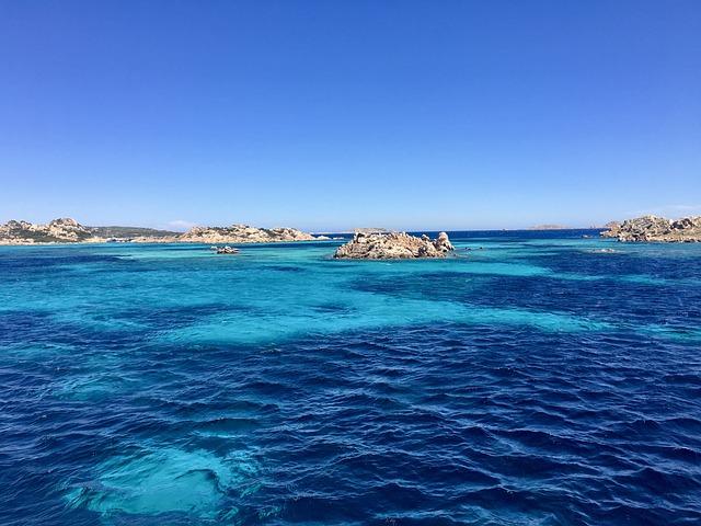 Sardinia, La Madelenna, Blue, Sea, Blue Sky, Summer