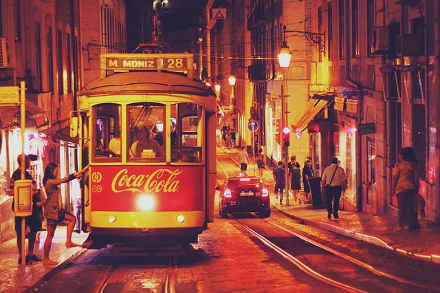 Portugal, Lisbon, Europe, City, Old Town, Summer, Night