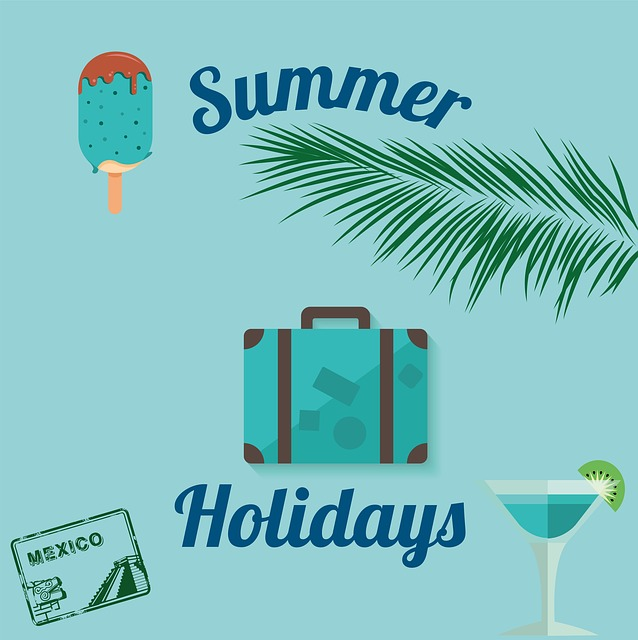 Summer, Beach, Sea, Vacations, Mexico, Ice, Luggage