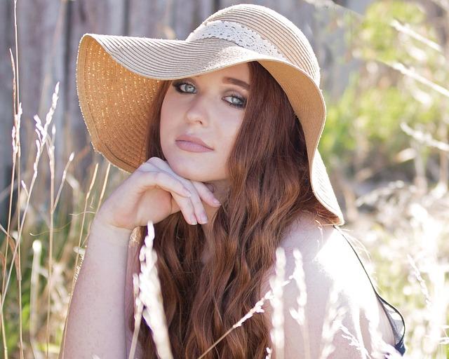 Summer, Hat, Nature, Beautiful, Fashion, Woman, Girl