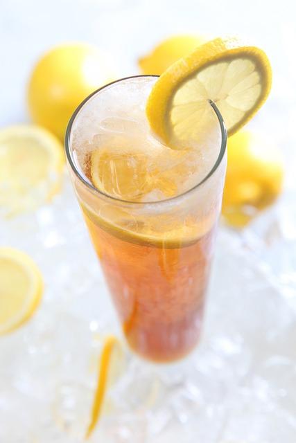 Lemon Tea, Cold Beverages, Summer Offerings