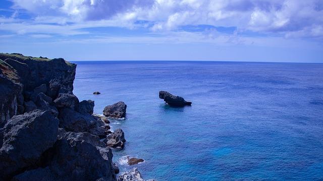 Sea, Sky, Cloud, Okinawa, Summer, Landscape, Blue