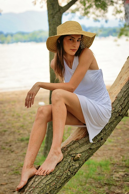 Summer, Nature, Outdoors, Ease, Woman, Park, Female