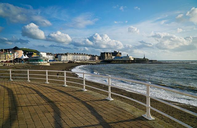 Beach, Pavement, Railings, Summer, Ocean, Sand, Sea