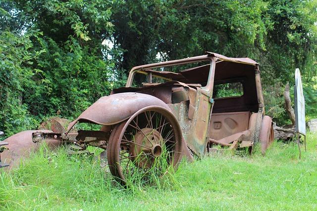 Wood, Grass, Summer, Nature, Rusty, Wheel
