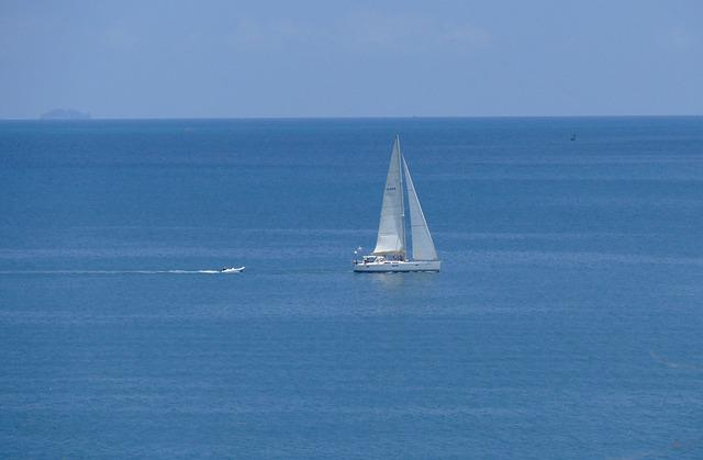 Waters, Sea, Sailing Boat, Ocean, Sail, Ship, Summer
