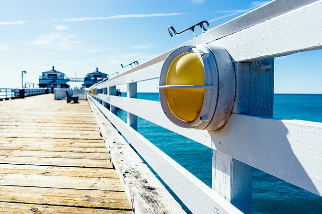 Jetty, Pier, Wooden, Banister, Ocean, Sea, Summer, Sun