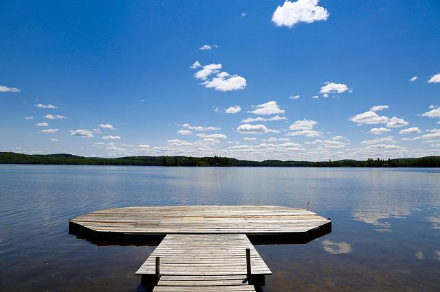 Summer, Dock, Ontario, Nature, Water, Sunny Day