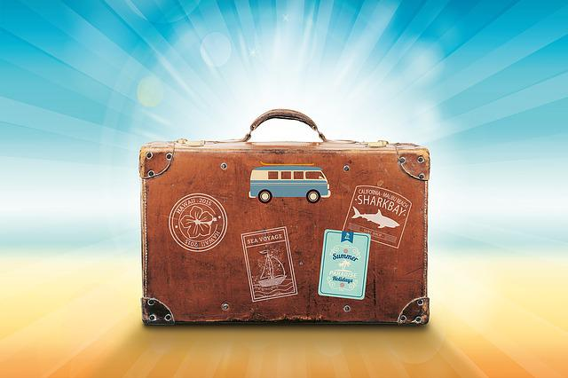 Luggage, Vacations, Travel, Summer, Sea, Sun, Recovery