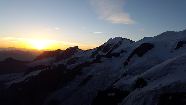 Sunrise, Alpine, Summit, Graubünden, Switzerland
