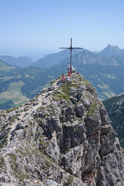 Ponten, Summit, Summit Cross, Mountain, Allgäu Alps