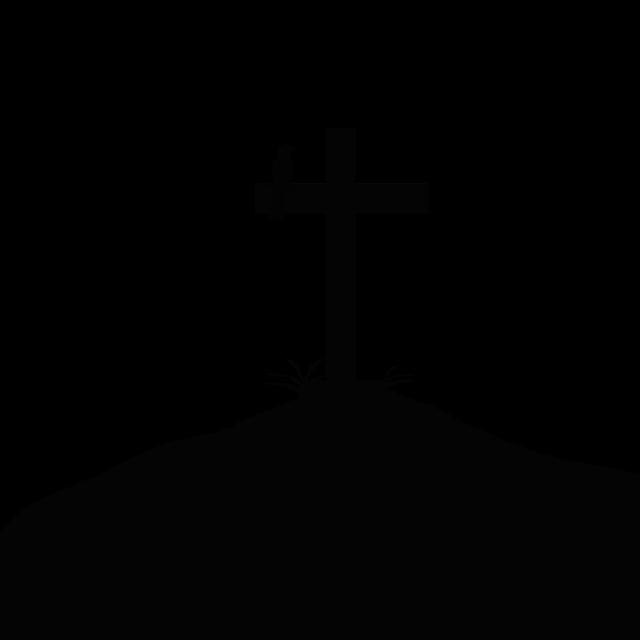 Summit Cross, Silhouette, Summit, Bird, Grass, Sun
