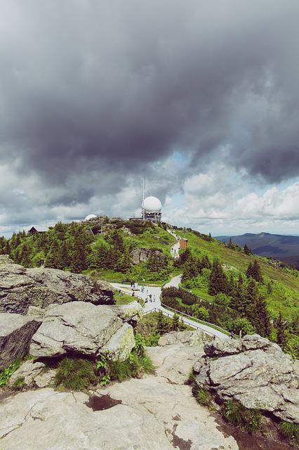 Summit, Mountain, Nature, Forest, Clouds, Sky, View