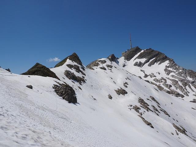 Säntis, Summit, Transmission Tower, Snow Fields, Alpine