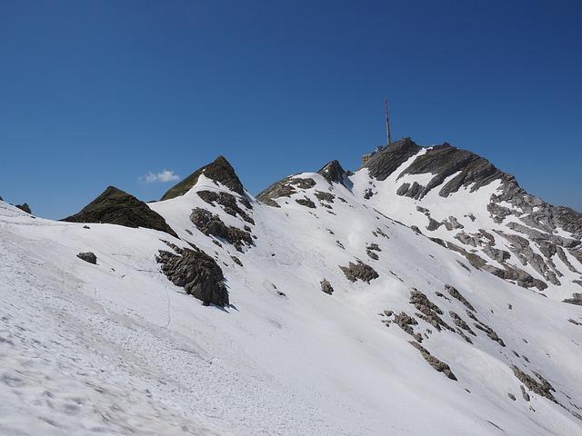 Säntis, Summit, Transmission Tower, Snow Fields, Alpine