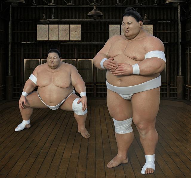 Sumoringer, Athlete, Wrestler, Hall, Sport, Overweight