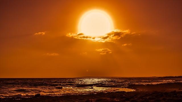 Sun, Clouds, Afternoon, Sky, Sunset, Sunlight, Sunbeam