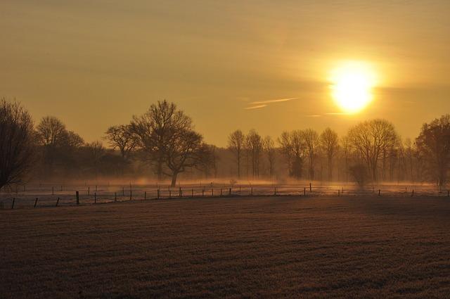 Sun, Winter, Sun Almost Set