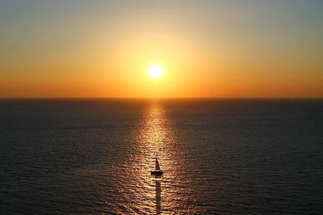 Sunset, Sun, Waters, Sea, Nature, Summer, Boat, Vela