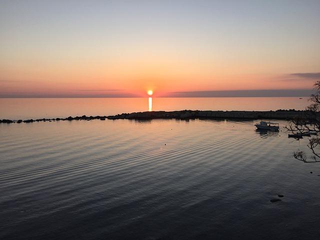 Sunset, Sea, Diamond, Calabria, Sun