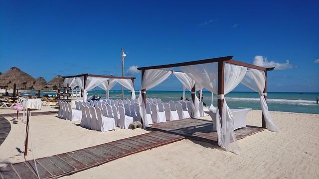 Mexico, Holiday, Cancun, Beach, Wedding, Caribbean, Sun
