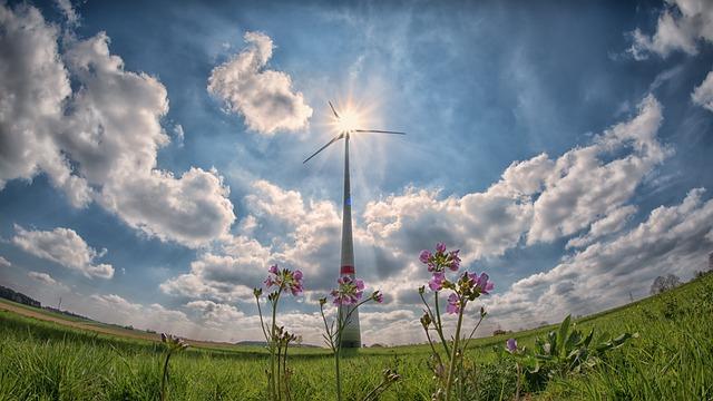 Pinwheel, Sun, Sunbeam, Clouds, Backlighting
