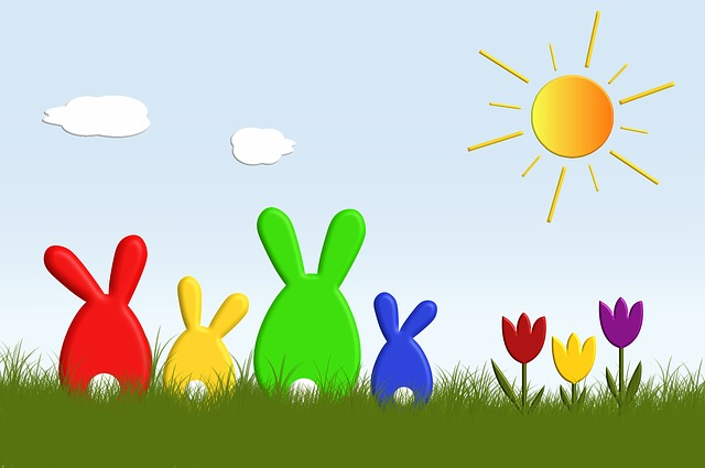 Easter, Hare, Easter Bunny, Funny, Colorful, Sun