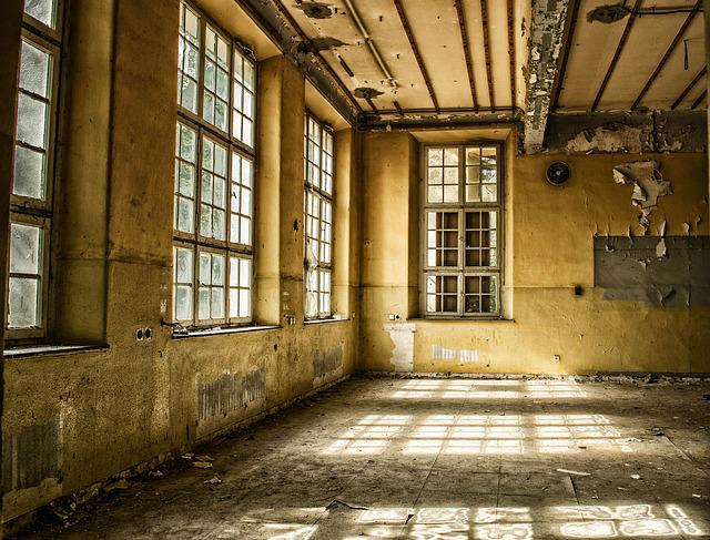 Space, Hall, Pforphoto, Leave, Lost Places, Window, Sun