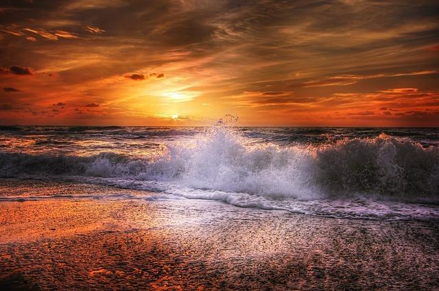 Sun, Denmark, Summer, Sea, Water, Sunset, Nature